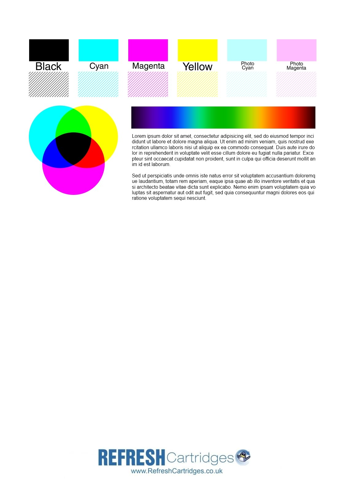 Uncategorized Color Print Page colour inkjet printer test page page