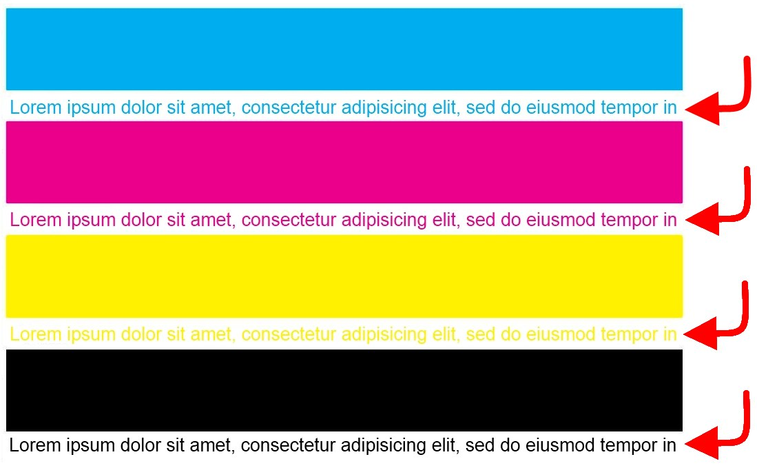 Color Test Page Print